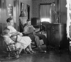 family-listening-to-radio