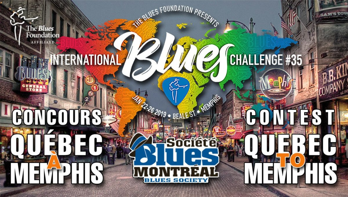 Rick Keene Music Scene - The Five Finalists for The Quebec to Memphis Blues Challenge 2018